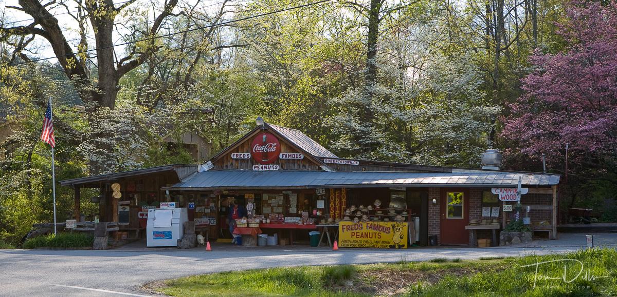 Fred's Famous Peanuts roadside stand in Robertstown, GA near Helen, GA