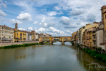 Ponte Vecchio bridge over the Arno River in Florence