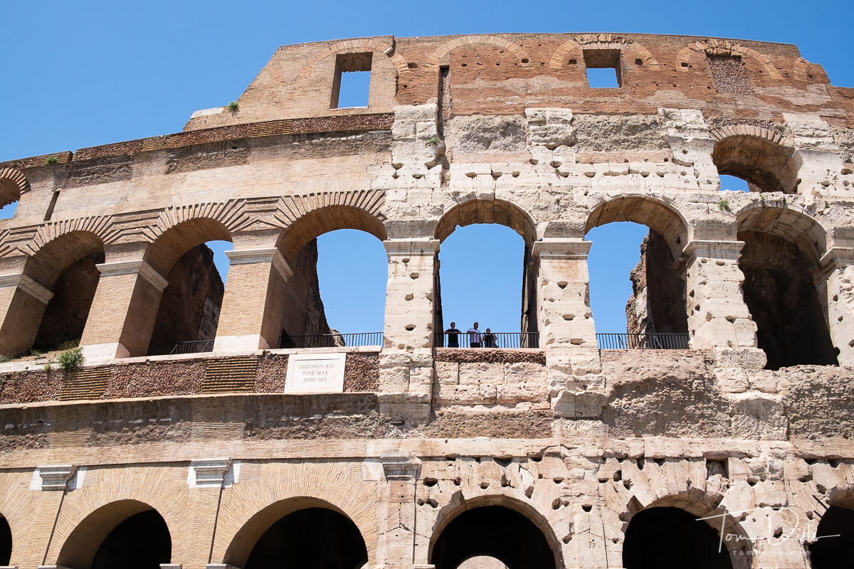 Our visit to the Colosseum in Rome
