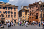The Piazza Navona in Rome