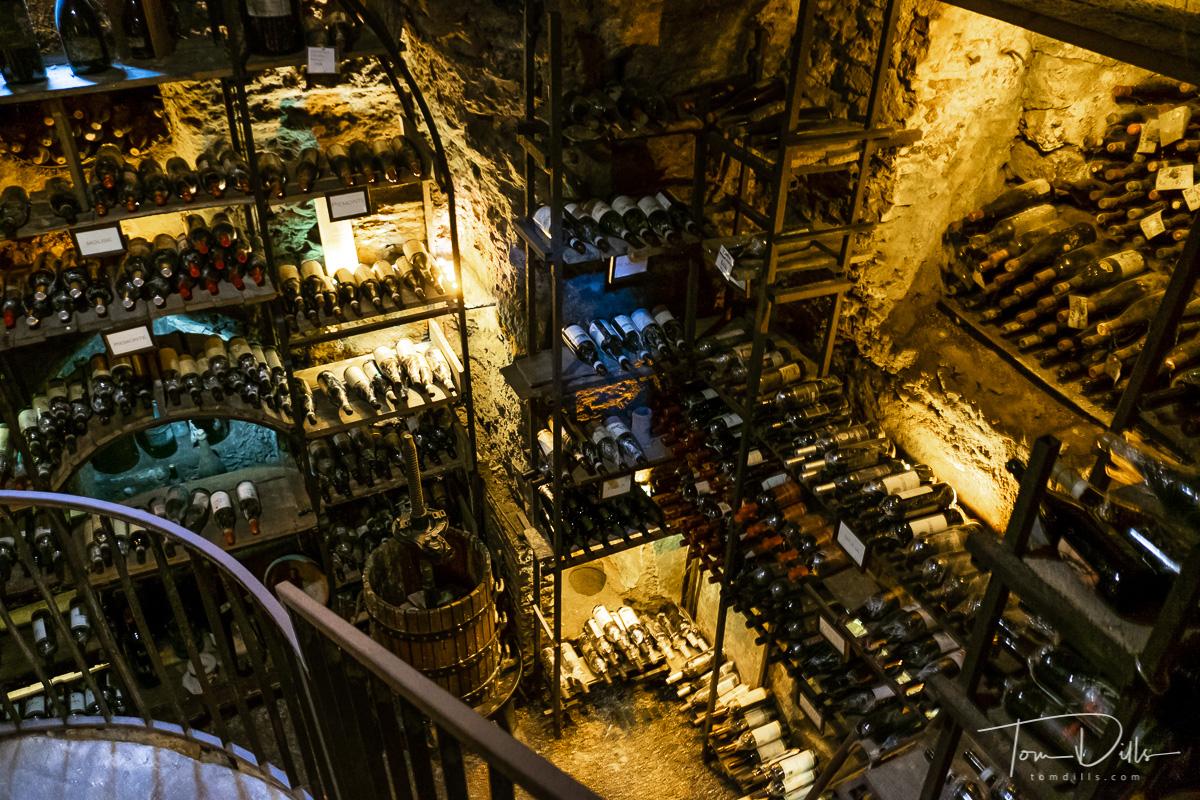 Wine cave at the Ristorante L'Archeologia in Rome