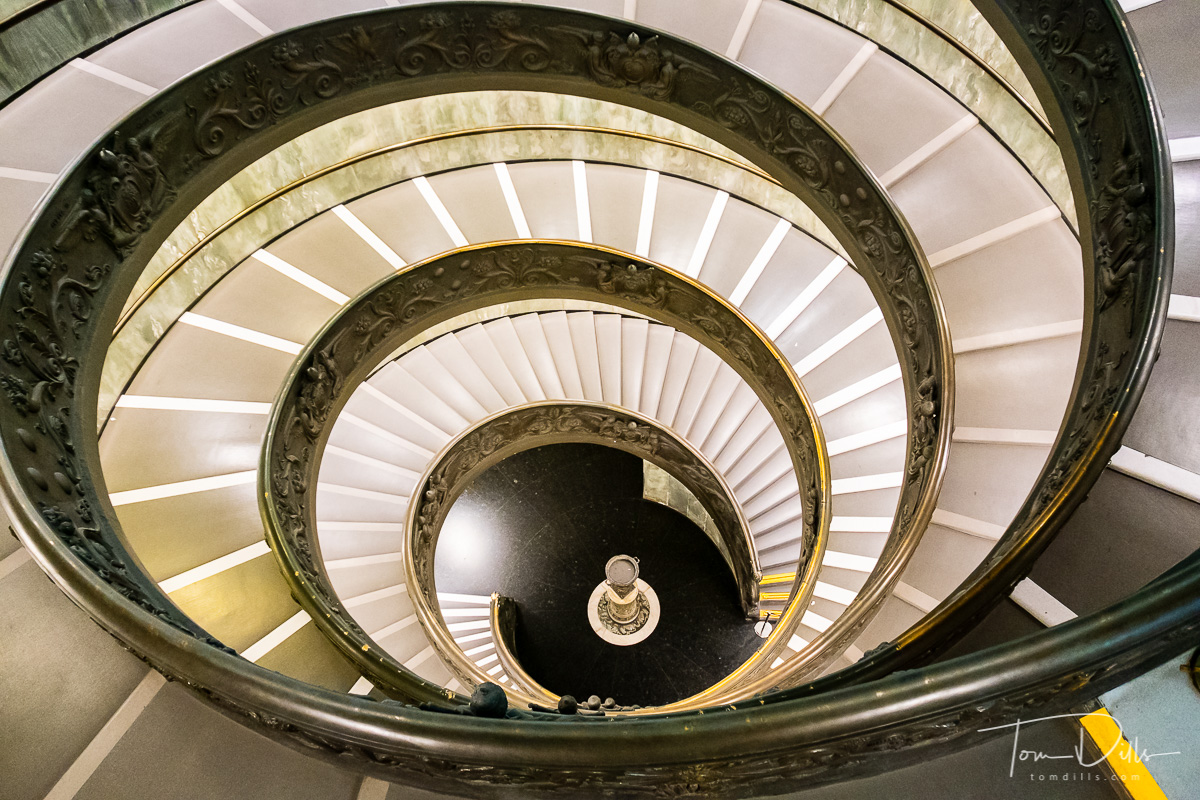 Spiral staircase at the exit from the Vatican Museum