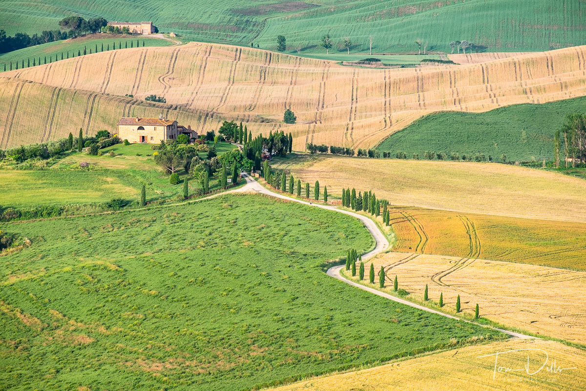 View of the Val d'Orcia from Pienza, Italy
