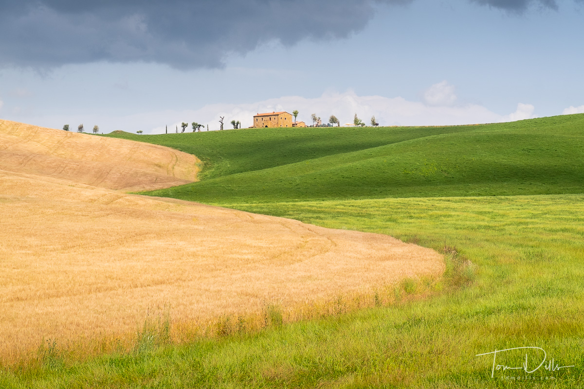 In the Val d'Orcia just outside Pienza, Italy