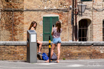 Piazza del Mercato in Siena, Italy