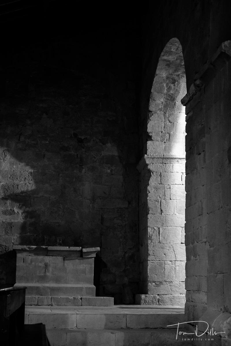 Pieve di Corsignano, a 12th-century stone Romanesque church in Pienza Italy where popes Pius II & Pi