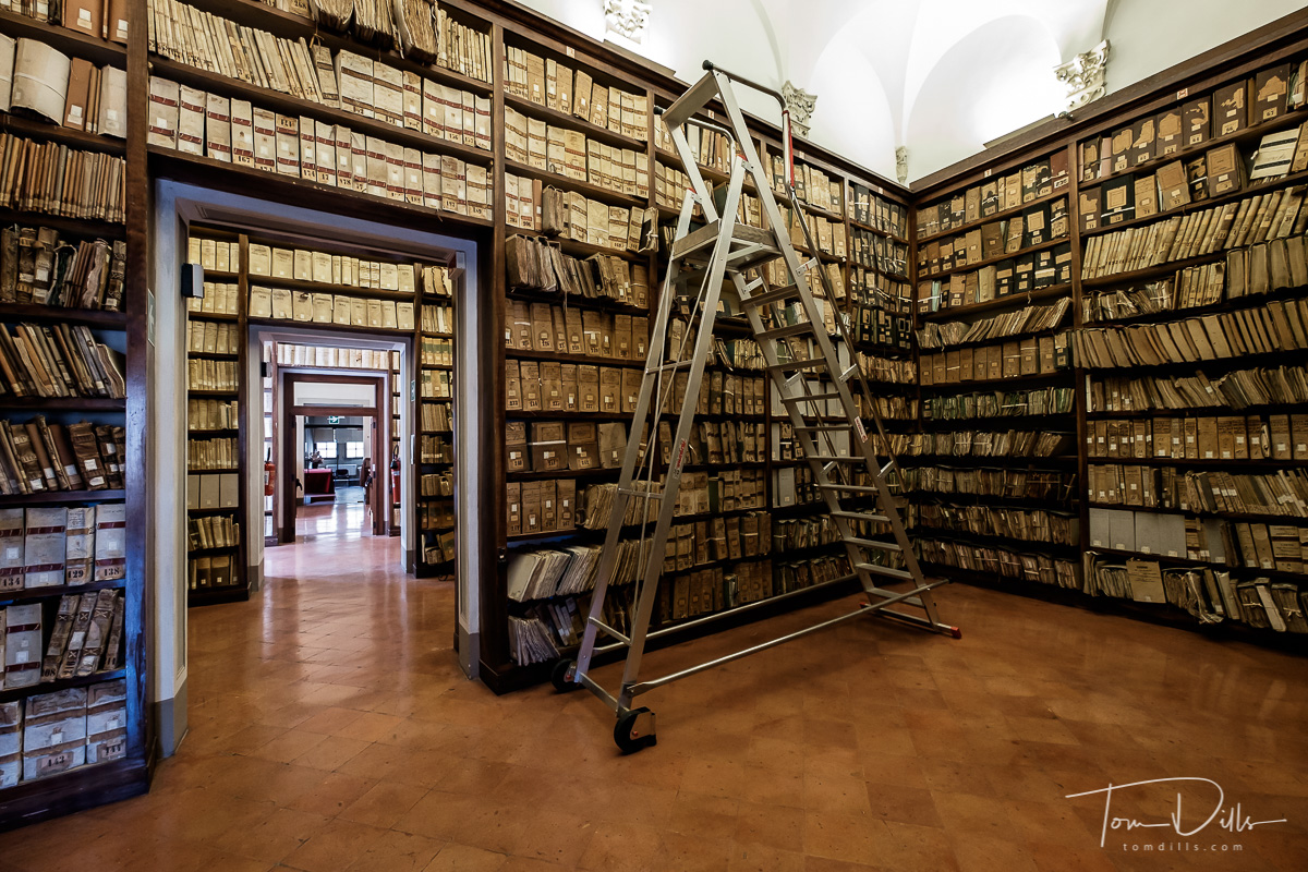 State Archives of Siena in the Piccolomini Palace in Siena, Italy