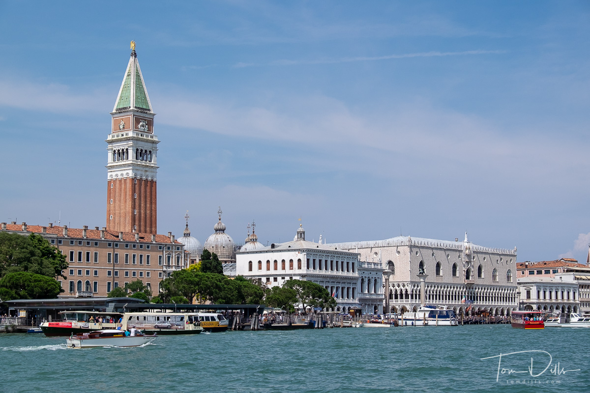 View of Venice across the Grand Canal in Venice, Italy