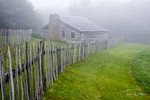 Foggy scene in Hensley Settlement,  Cumberland Gap National Historic Area, Kentucky