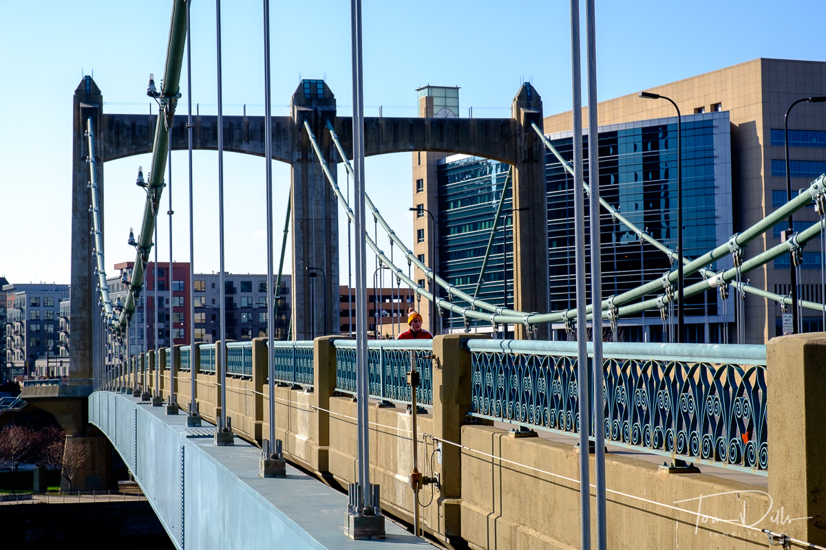 Hennepin Avenue Bridge over the Mississippi River in Minneapolis Minnesota