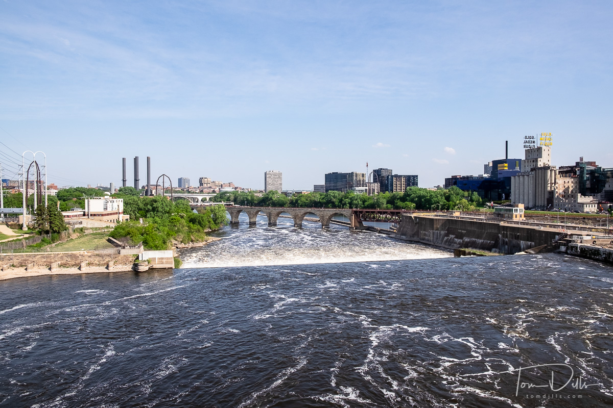 Mississippi River from the 3rd Avenue Bridge in Minneapolis