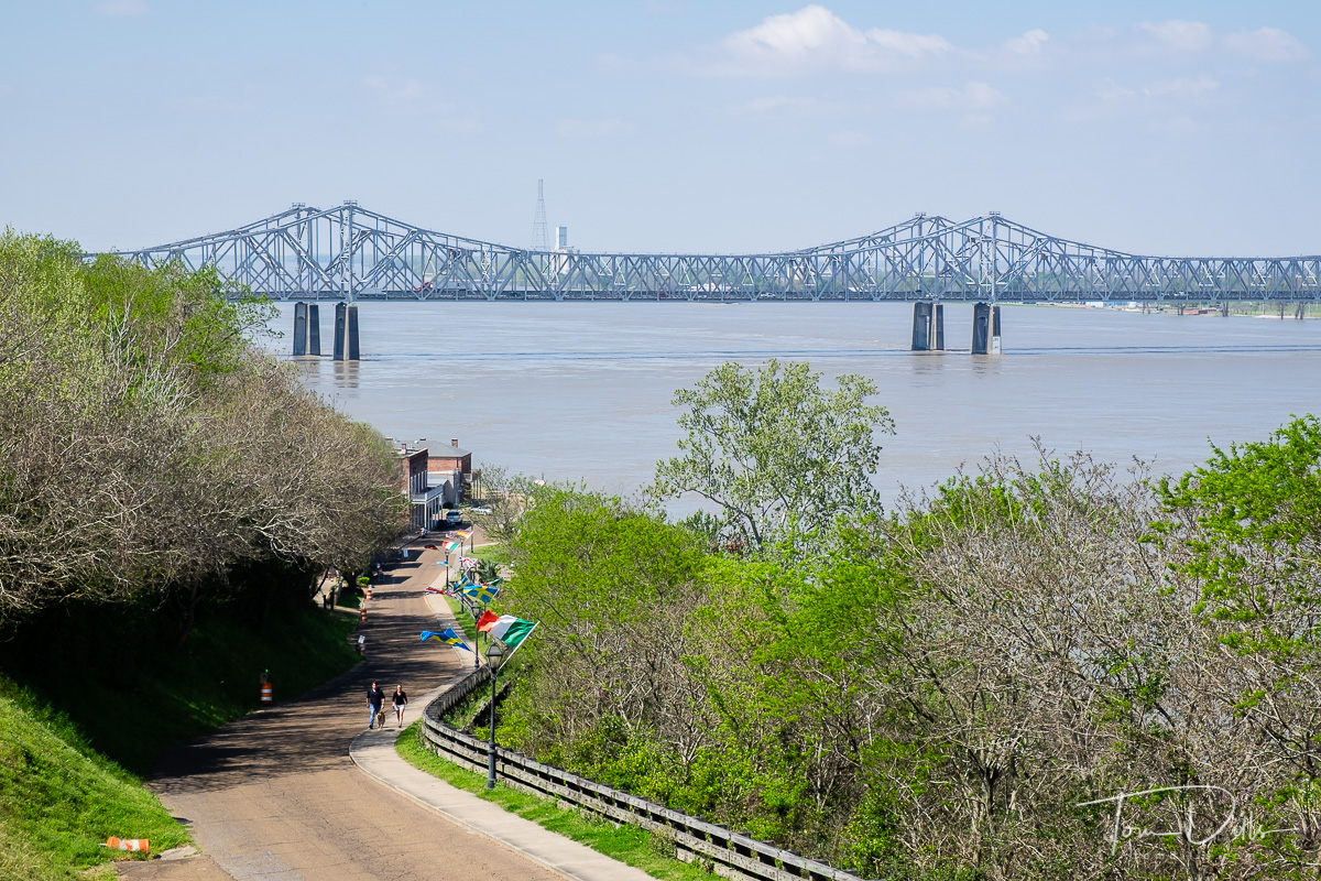 Views of the Mississippi River from Natchez, Tennessee