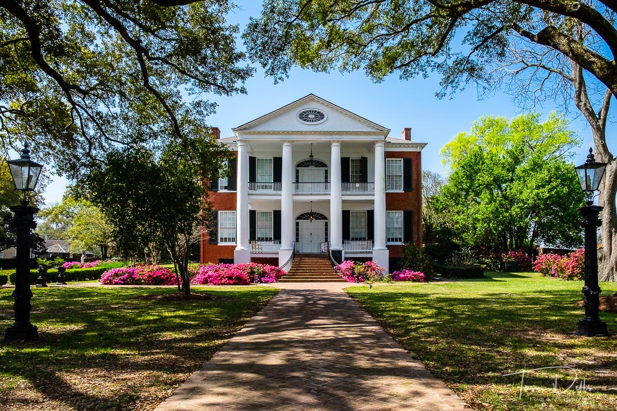 Historic Rosalie Mansion in Natchez, Mississippi