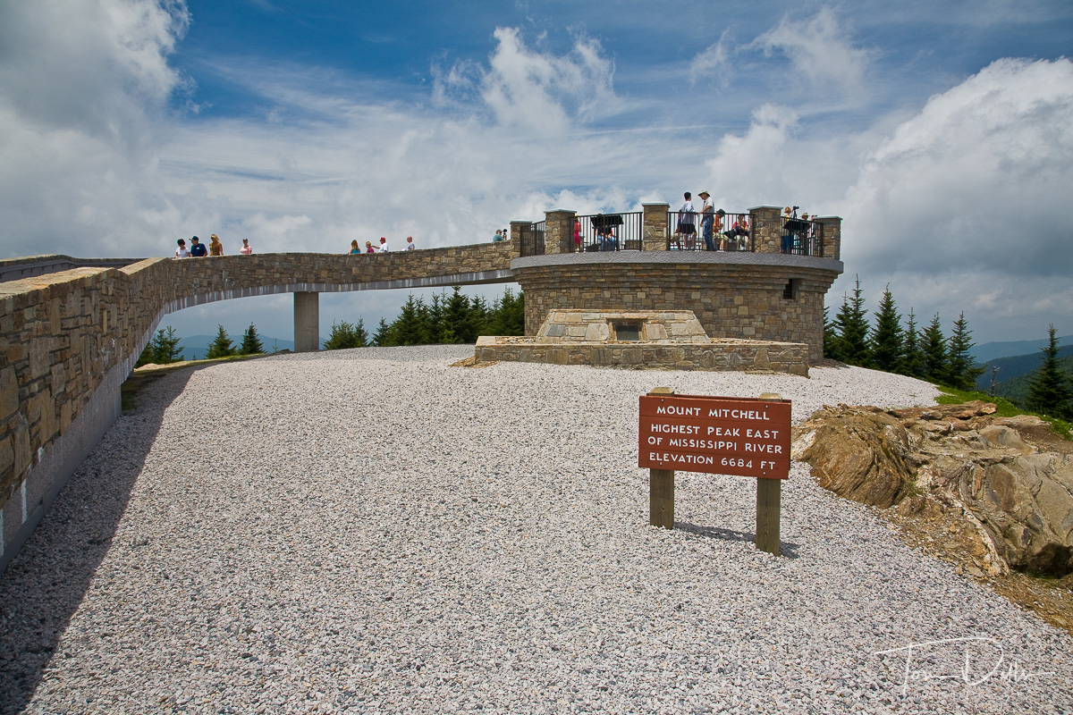 New (2009) Observation tower on Mount Mitchell, highest peak east of the Mississippi River, Mount Mitchell State Park, North Carolina