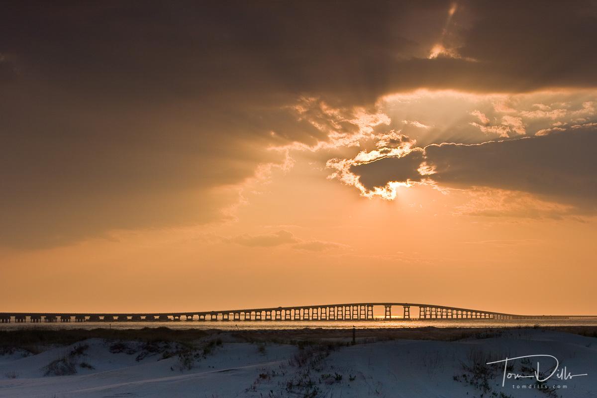 Sunset, Herbert C Bonner Bridge, Oregon Inlet, Pea Island, NC