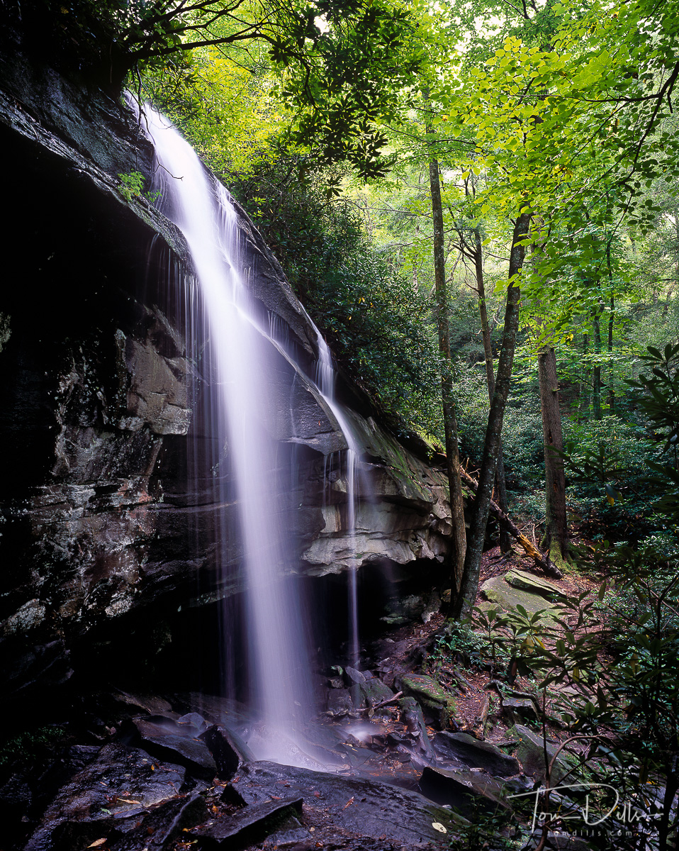 Slickrock Falls in Pisgah National Forest Near Brevard, North Carolina