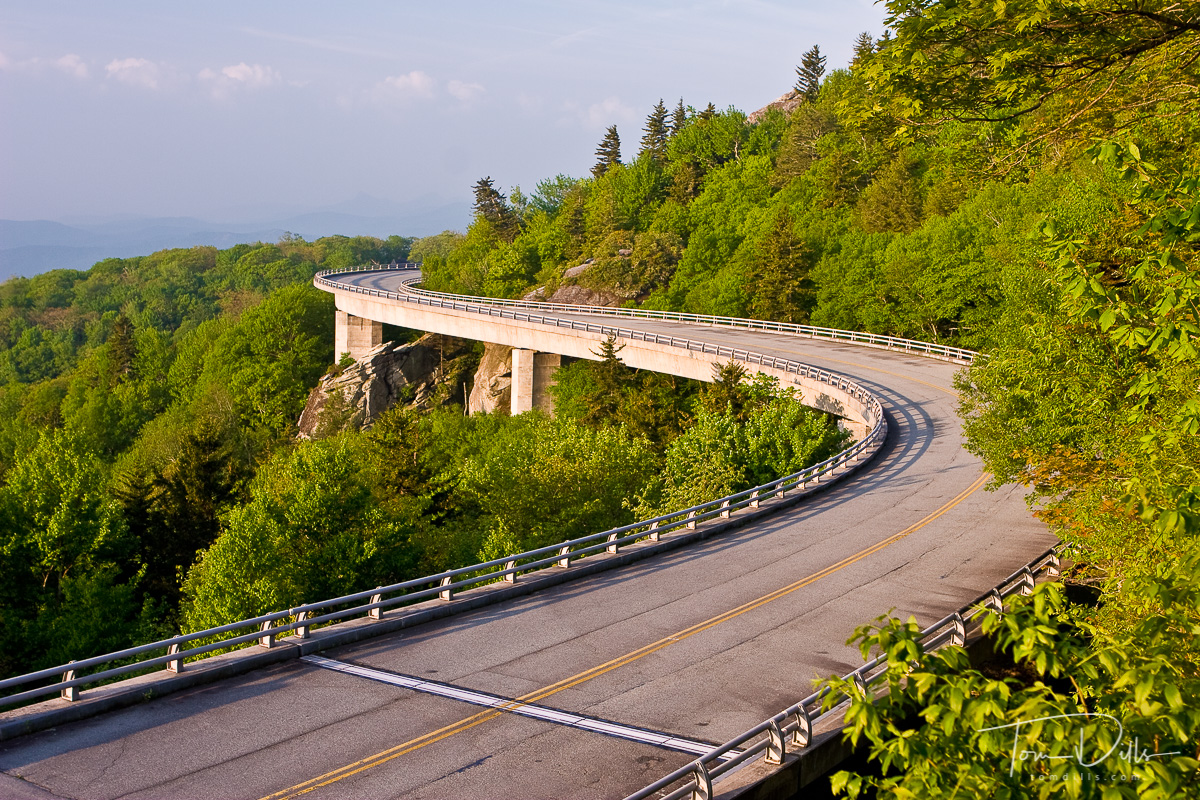 Morning Light on the Linn Cove Viaduct, Blue Ridge Parkway near Grandfather Mountain, North Carolina