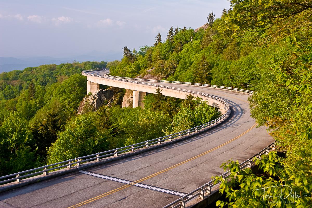 Morning Light on the Linn Cove Viaduct, Blue Ridge Parkway near Grandfather Mountain, North Carolina