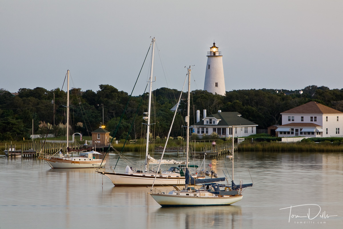 Dusk on Silver Lake, Ocracoke Island, North Carolina