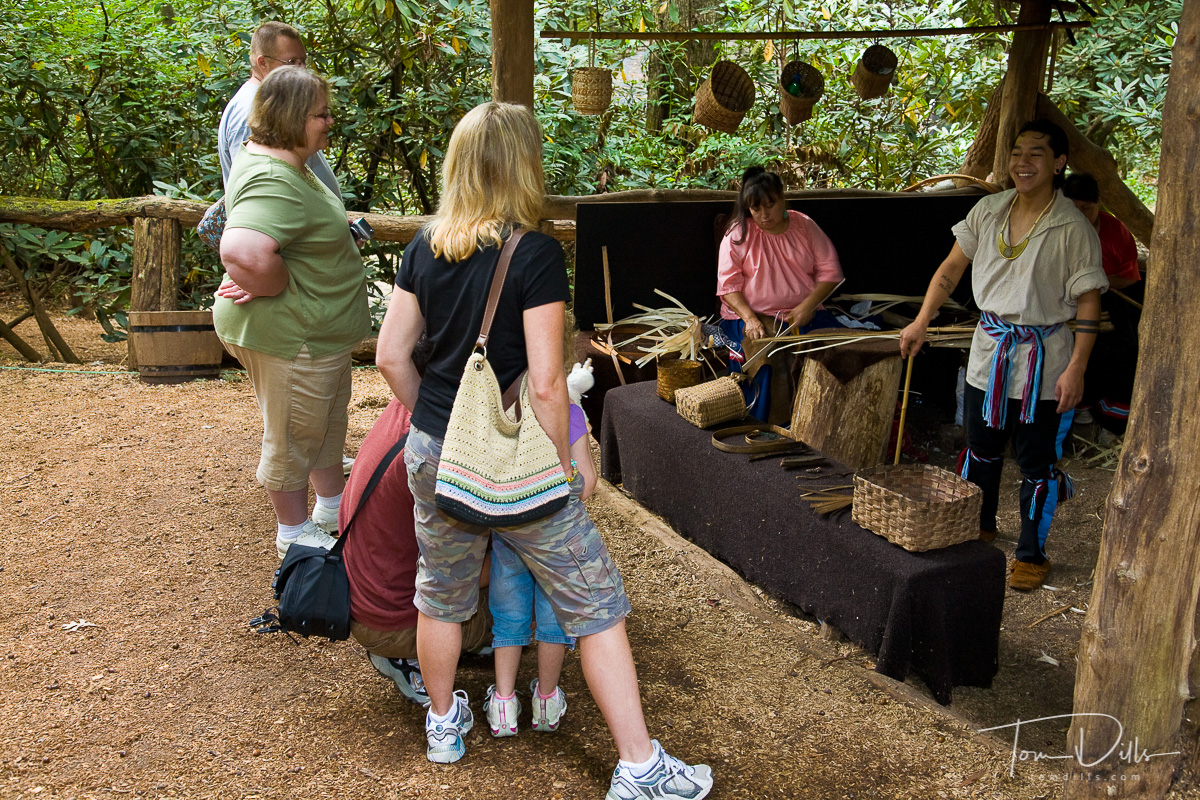 Basket weaving, Oconaluftee Indian Village in Cherokee, North Carolina