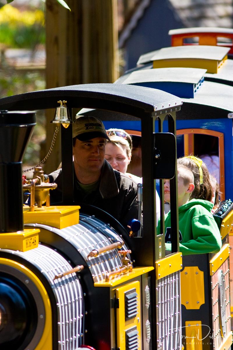Spots & Stripes Railroad, a children's train ride at Riverbanks Zoo, Columbia, South Carolina