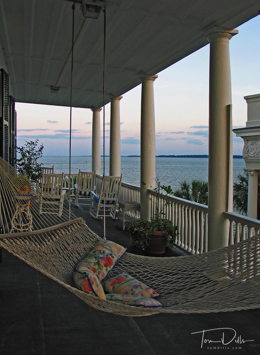Porch and Hammock, Zero Water Street Bed & Breakfast, Charleston, SC