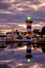 Harbor Town Lighthouse at Sunset, Sea Pines, Hilton Head Island, South Carolina