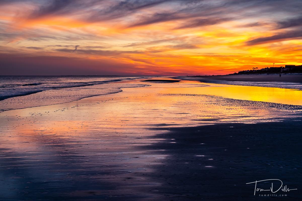 Sunset on the beach, Palmetto Dunes Oceanside Resort, Hilton Head Island, South Carolina