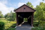 Hokes Mill Covered Bridge on Second Creek near Roncevert, West Virginia