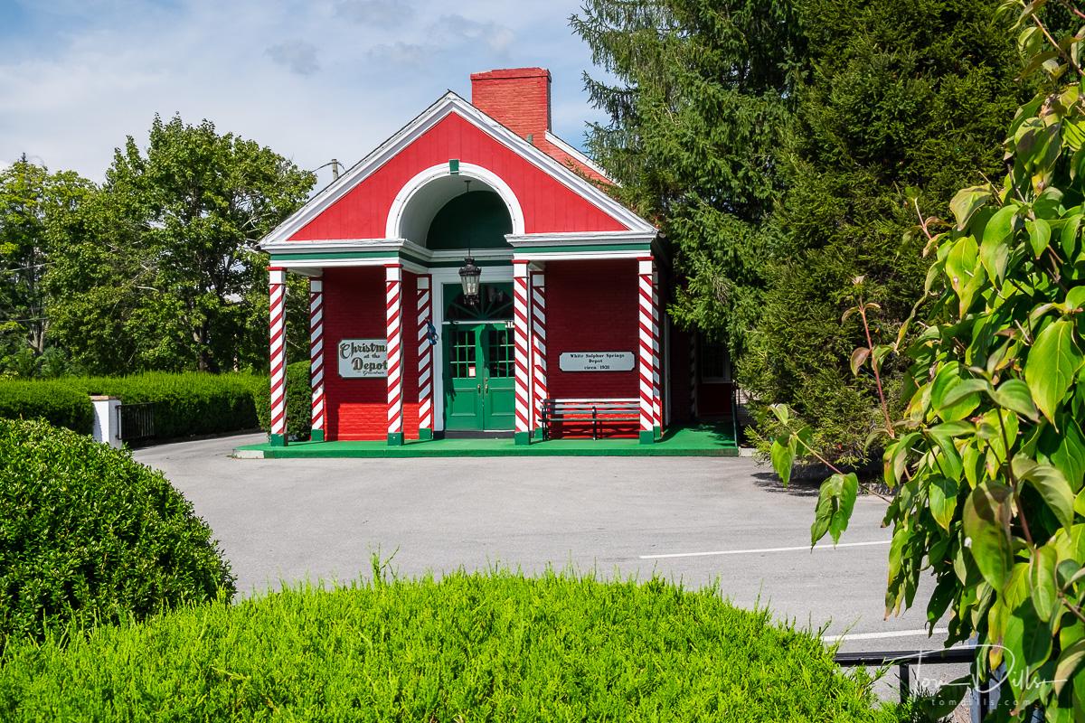 Train station in White Sulphur Springs, West Virginia