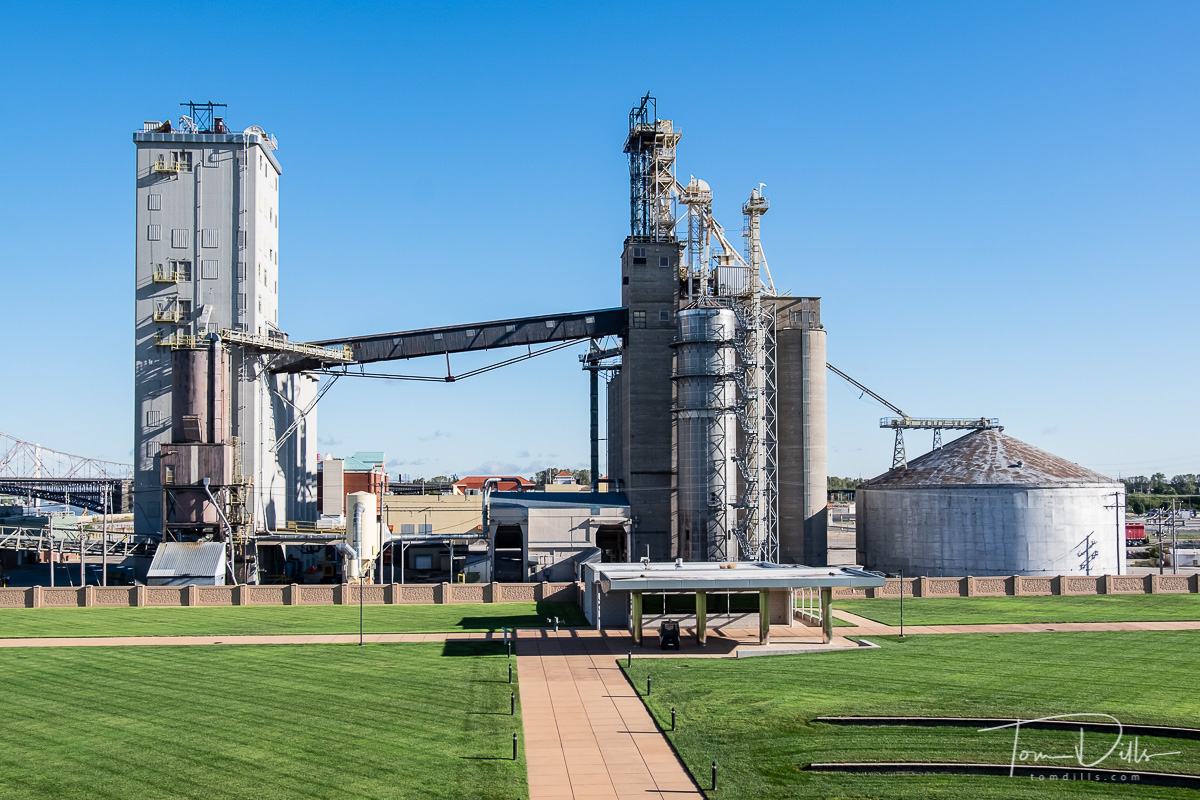 Cargill plant next to the Mississippi River Overlook in Malcolm W. Martin Memorial Park, East St. Louis, Illinois