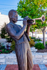 Statue of Miles Davis in Alton, Illinois