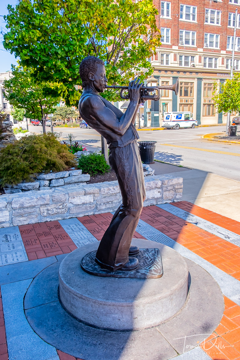 Statue of Miles Davis in Alton, Illinois