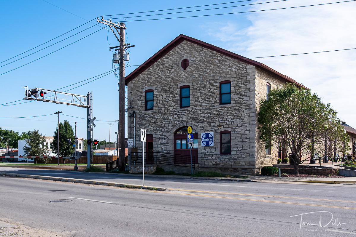Santa Fe Depot, currently housing the Atchison County Historical Society in Atchison, Kansas