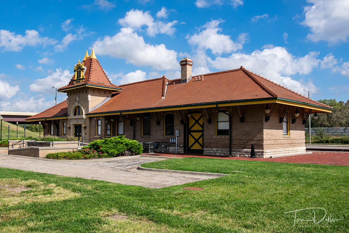 Former Union Pacific Train Depot now used as an event venue in Manhattan, Kansas