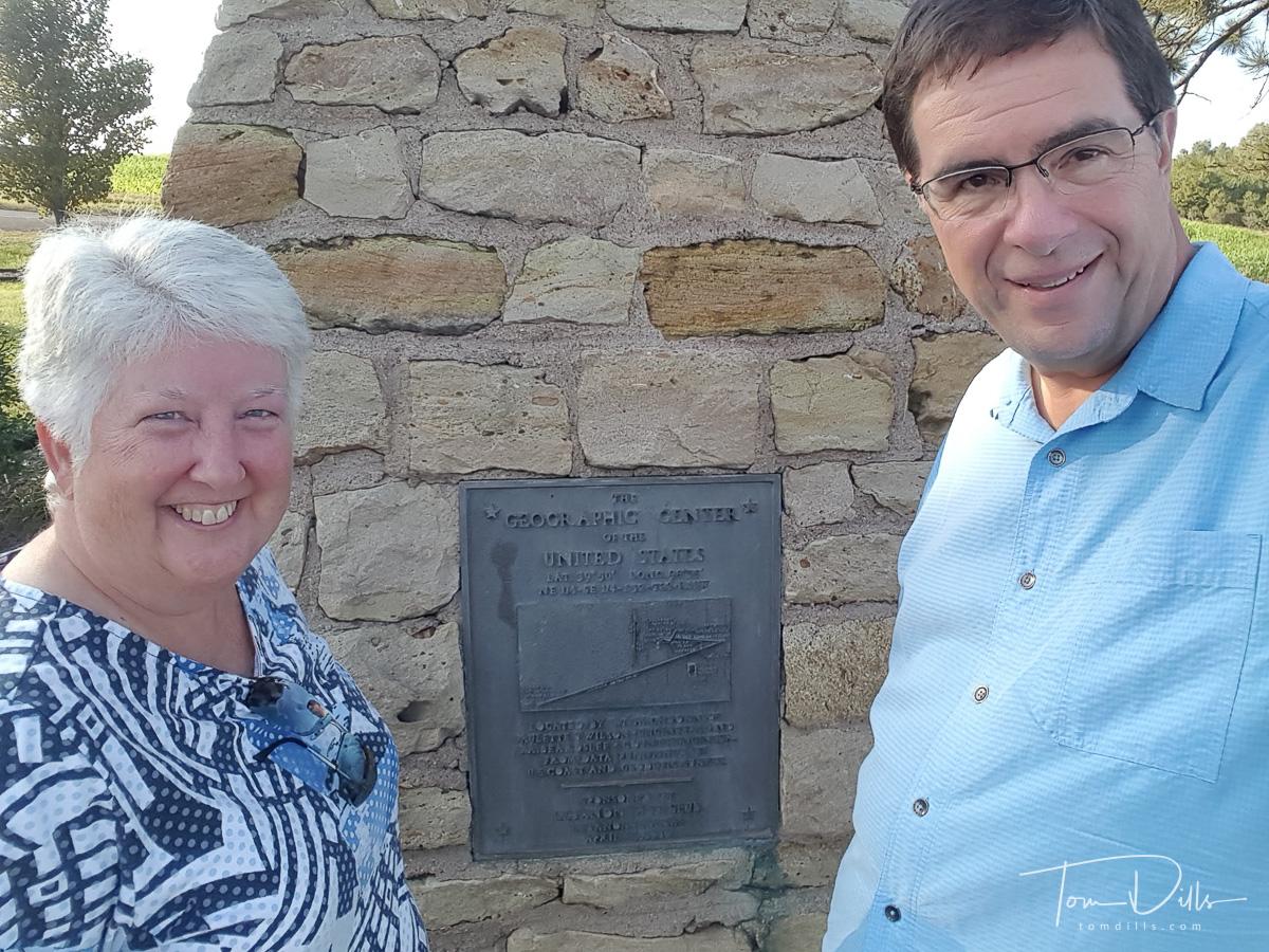 The Geographic Center of the 48 States, a historical landmark near Lebanon, Kansas