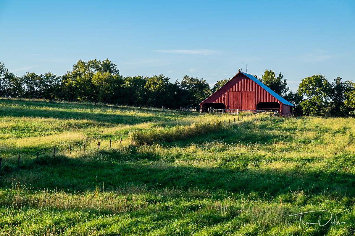 Rural scene along US 36 near Breckenridge, Missouri
