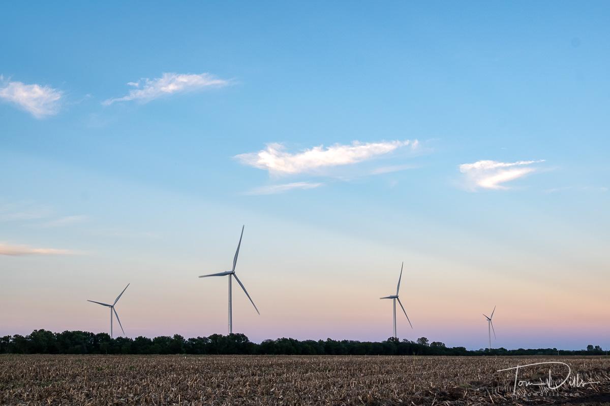 Wind generators off US 36 near SW Lakesite Road near Osborn, Missouri