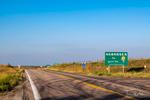 Roadside at the Kansas-Nebraska state line on US-281 near Red Cloud, Nebraska