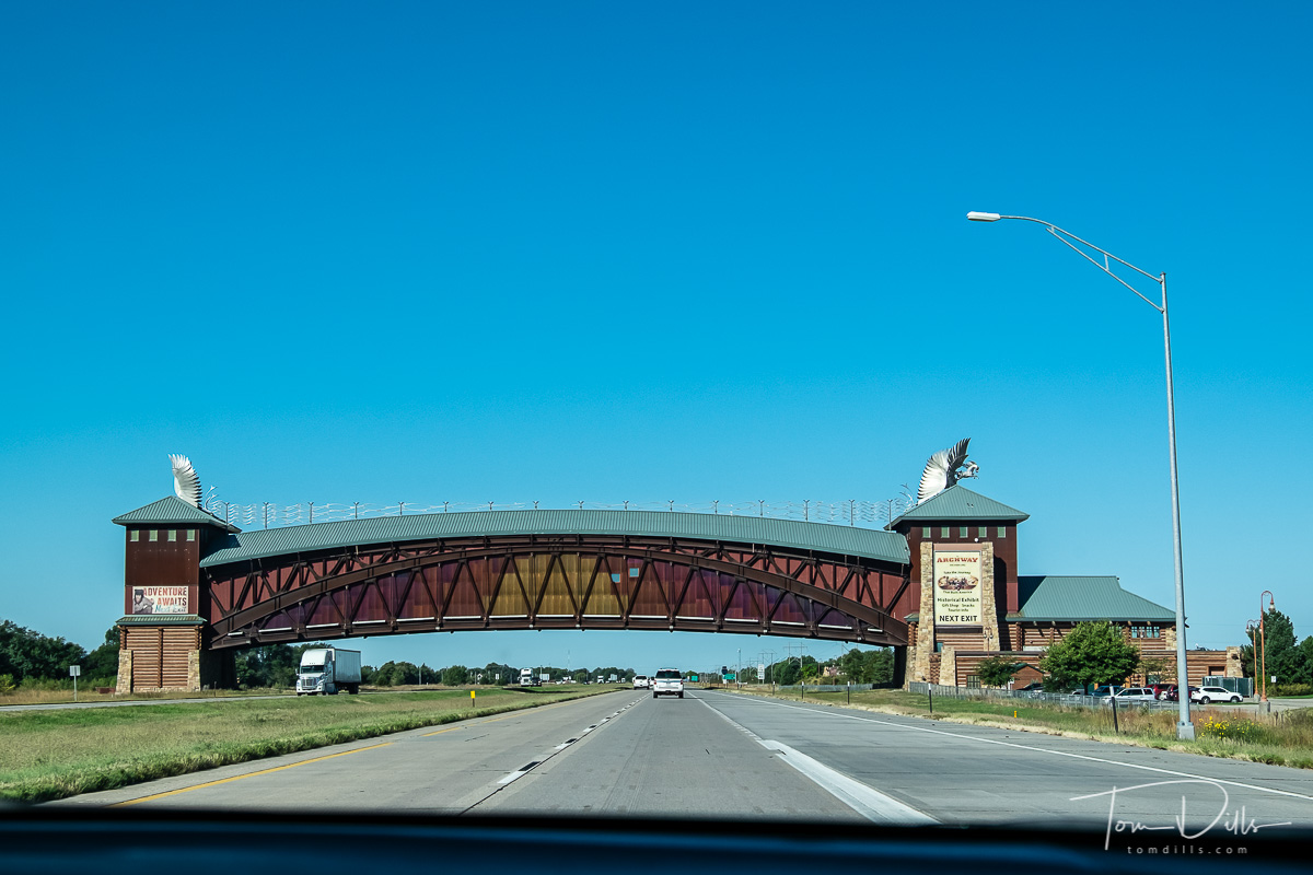 The Archway, a tourist attraction and museum that spans I-80 near Kearney, Nebraska