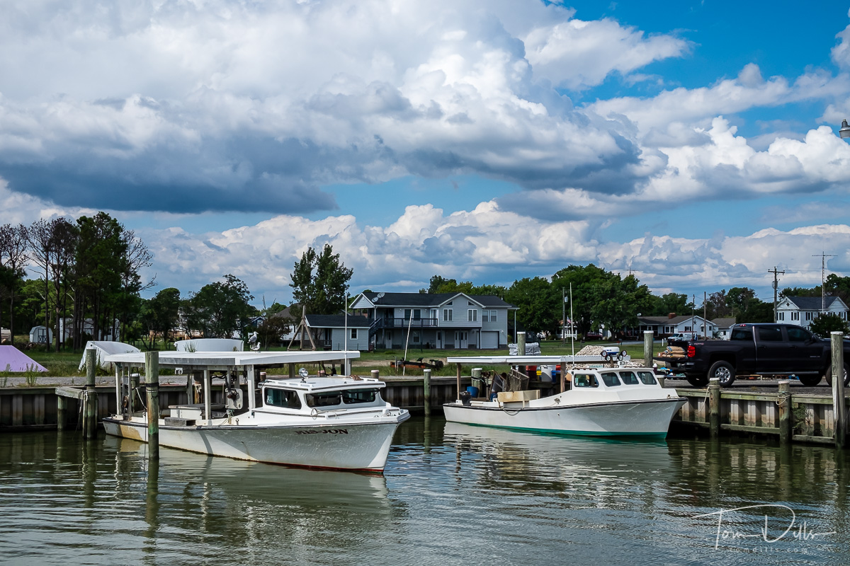 Hoopers Island Oyster Company and Russell Hall Seafood in Fishing Creek, Maryland