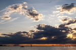Sunset over Daugherty Creek in Crisfield, Maryland