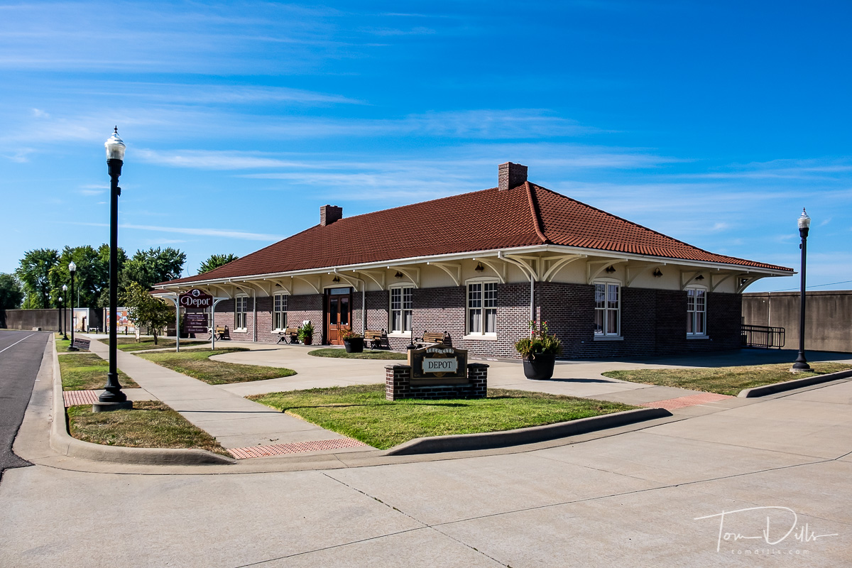 Train station in Tell City, Indiana now used as a community center