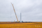 Wind generator under construction near Titonka, Iowa