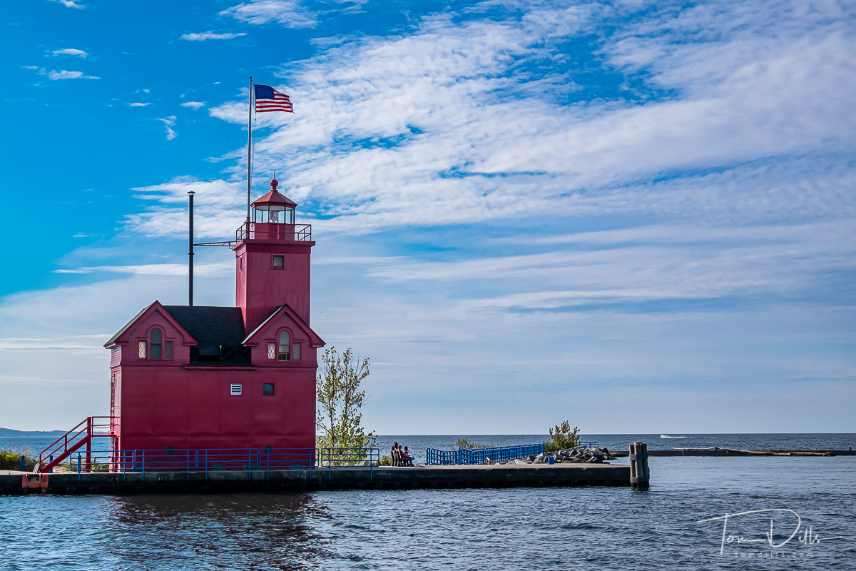 {quote}Big Red Lighthouse{quote} at Holland State Park in Holland, Michigan