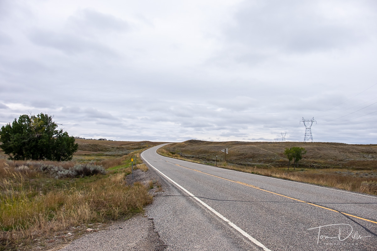 Rural countryside along SR 47 near Custer, Montana