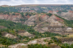 View of The Painted Canyon at Theodore Roosevelt National Park, North Dakota