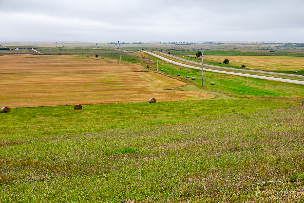 Roadside scene at I-94 and {quote}The Enchanted Highway{quote} near Gladstone, North Dakota