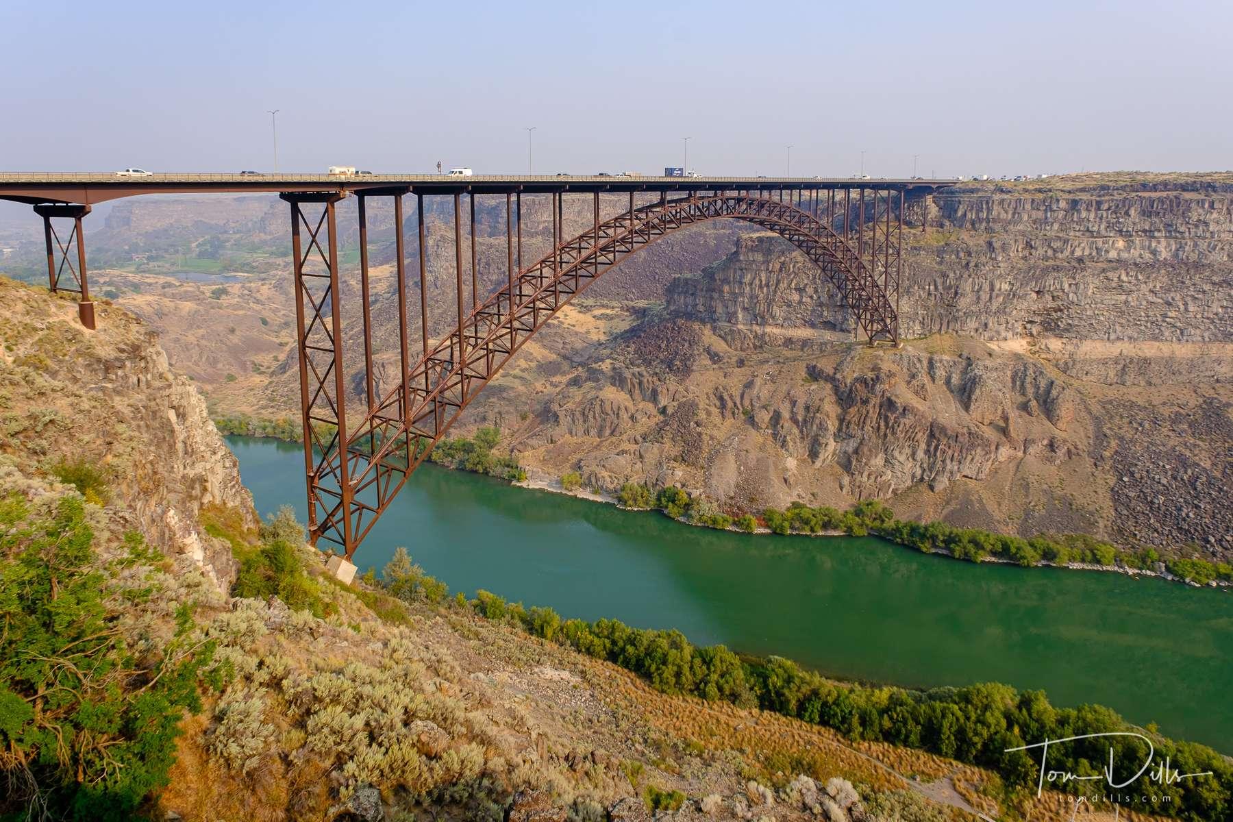 Perrine Memorial Bridge over the Snake River in Twin Falls, Idaho