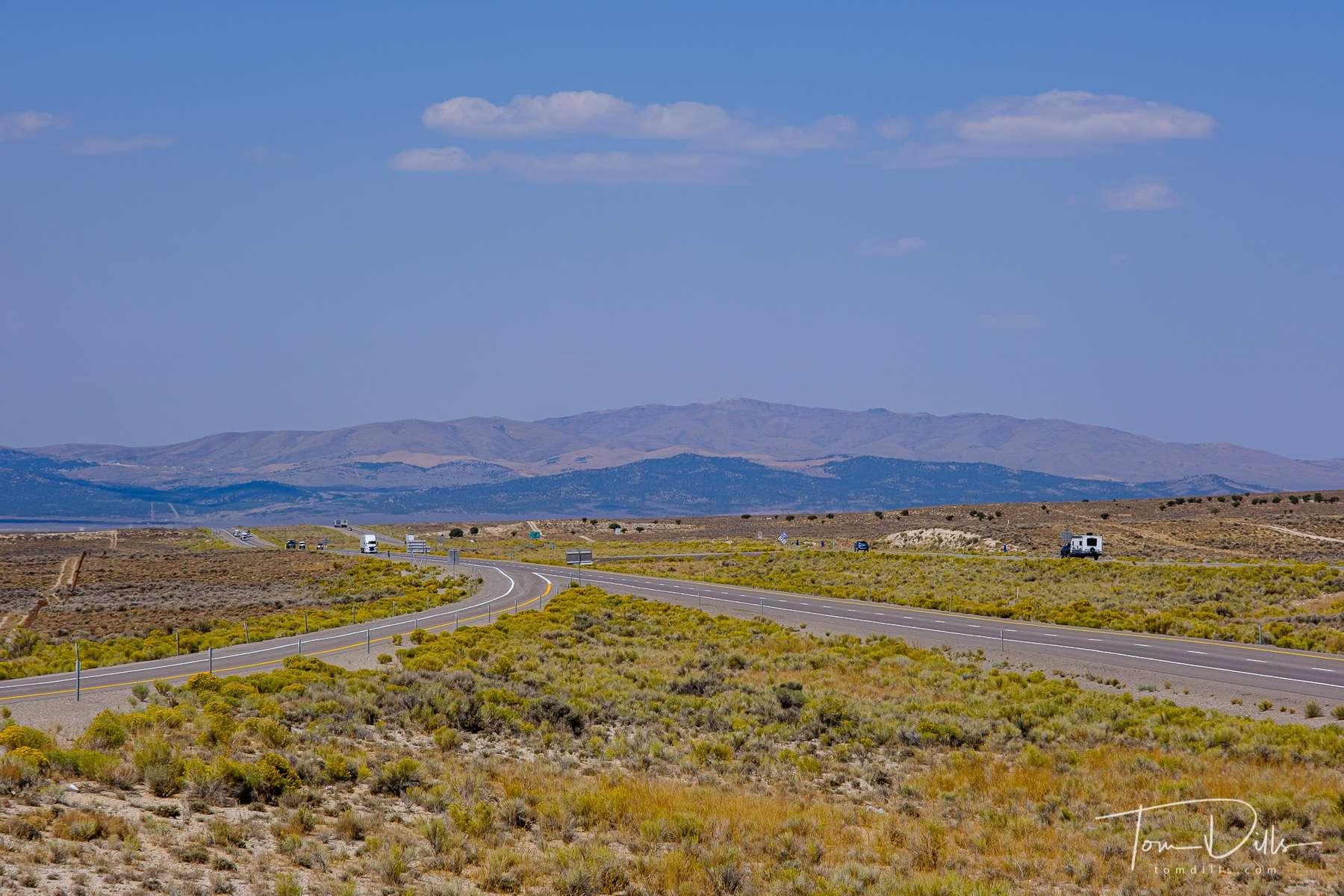 Scenery along I-80 near Oasis, Nevada